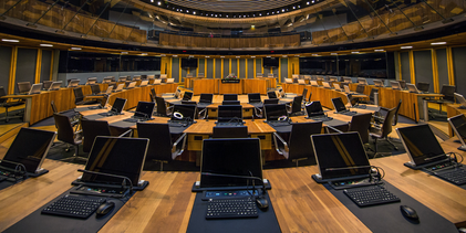 The National Assembly for Wales Siambr (chamber)