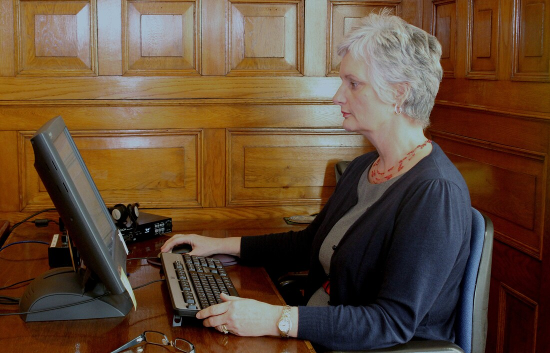 Tynwald staff logging a meeting